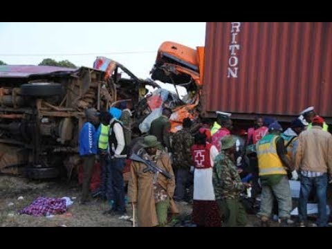 Horrific scene at the Migaa bus crash where at-least 36 people perished
