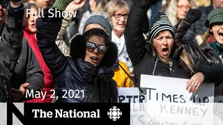 CBC News: The National   Alberta's COVID-19 surge; Dragon leaves the den   May 2, 2021