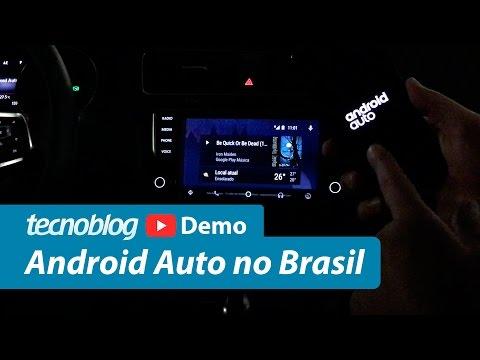 Android Auto no Brasil - Demonstração Tecnoblog