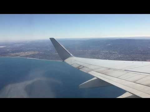 Take off Adelaide Airport - Qantas Boeing 737