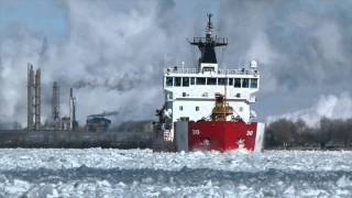 USCG Mackinaw Battles Ice