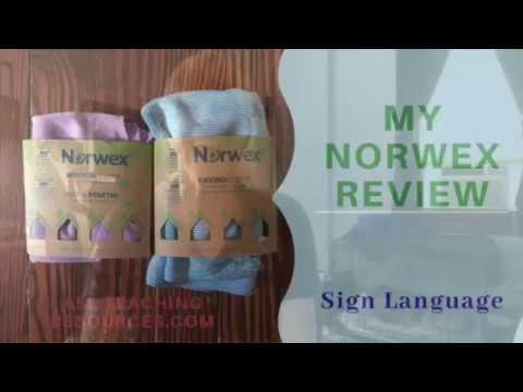 My Norwex review, Enviro clean cloth w ASL