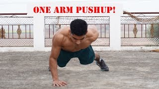 How to get your first One Arm Push-up! - One Hand Pushup Tutorial in Hindi