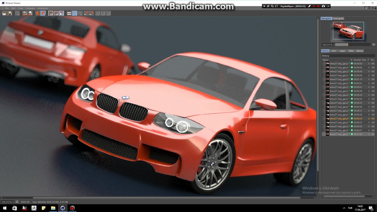 Cinema 4d Vray RT GPU Render Test With GTX 1070 and Bmw27 File