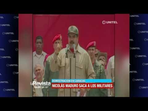 Civiles y militares salieron a las calles a marchar para mostrar unidad en Venezuela
