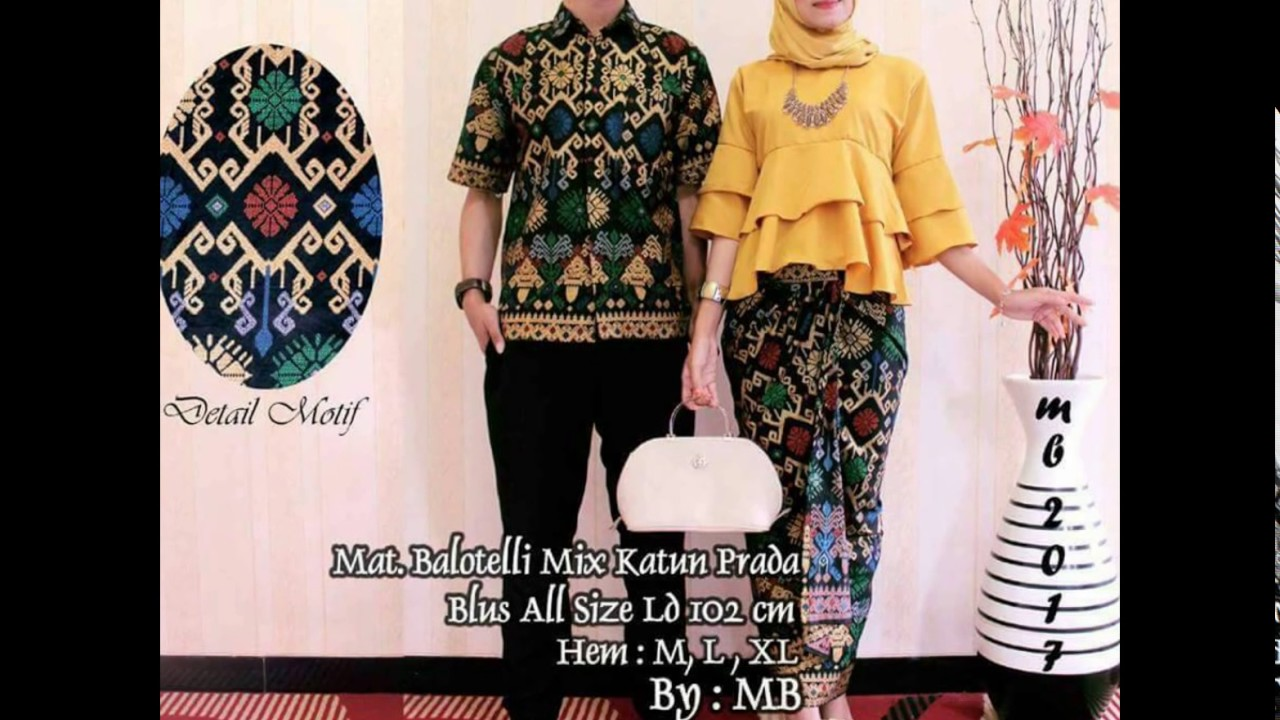 081290056915 Tsel Baju Batik Couple 2017 Model Baju Batik