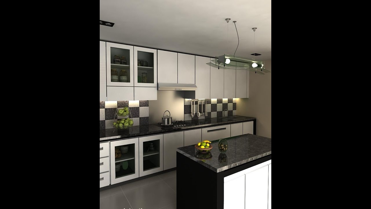 Black and white kitchen designs ideas youtube for Kitchen design pictures
