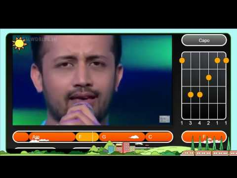Atif aslam Live Performance GIMA Awards | Guitar Chord