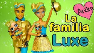 La familia LOL Luxe juega escondido con la bebé | Muñecas y juguetes con Andre para niñas y niños