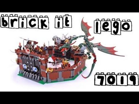Brick It Lego Vikings 7019 Viking Fortress Against The Fafnir