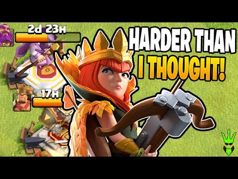 ATTACKING WITH NO KING AND WARDEN CAN BE TOUGH! - Clash Of Clans