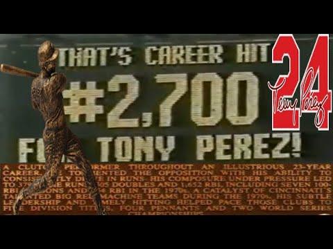 Tony Perez - 2,700th Career Hit (Cincinnati Reds)