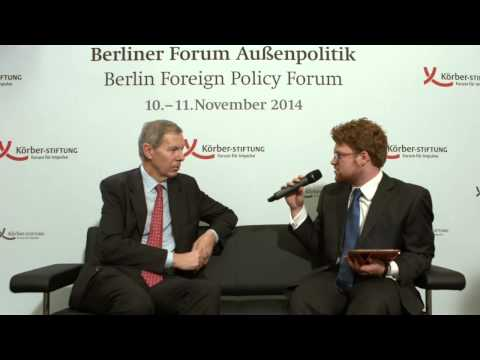 Interview with Jean-Marie Guéhenno at the Berlin Foreign Policy Forum 2014
