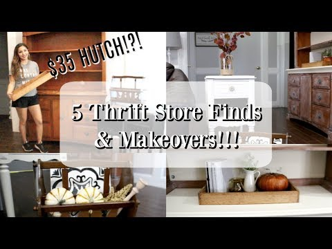 5 THRIFT STORE FINDS & MAKEOVERS! | HOME DECORATING IDEAS