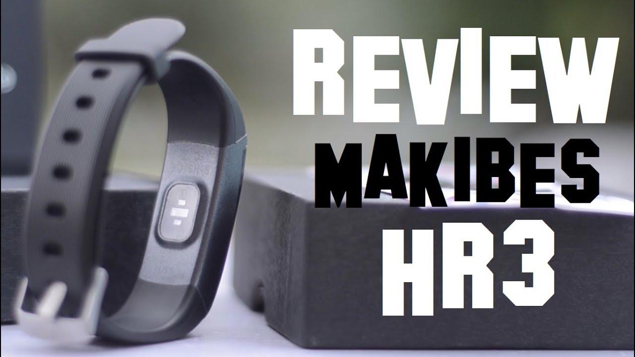 039bb2b694cf Pulsera Inteligente Makibes HR3   Review Español Smart Wristband ...