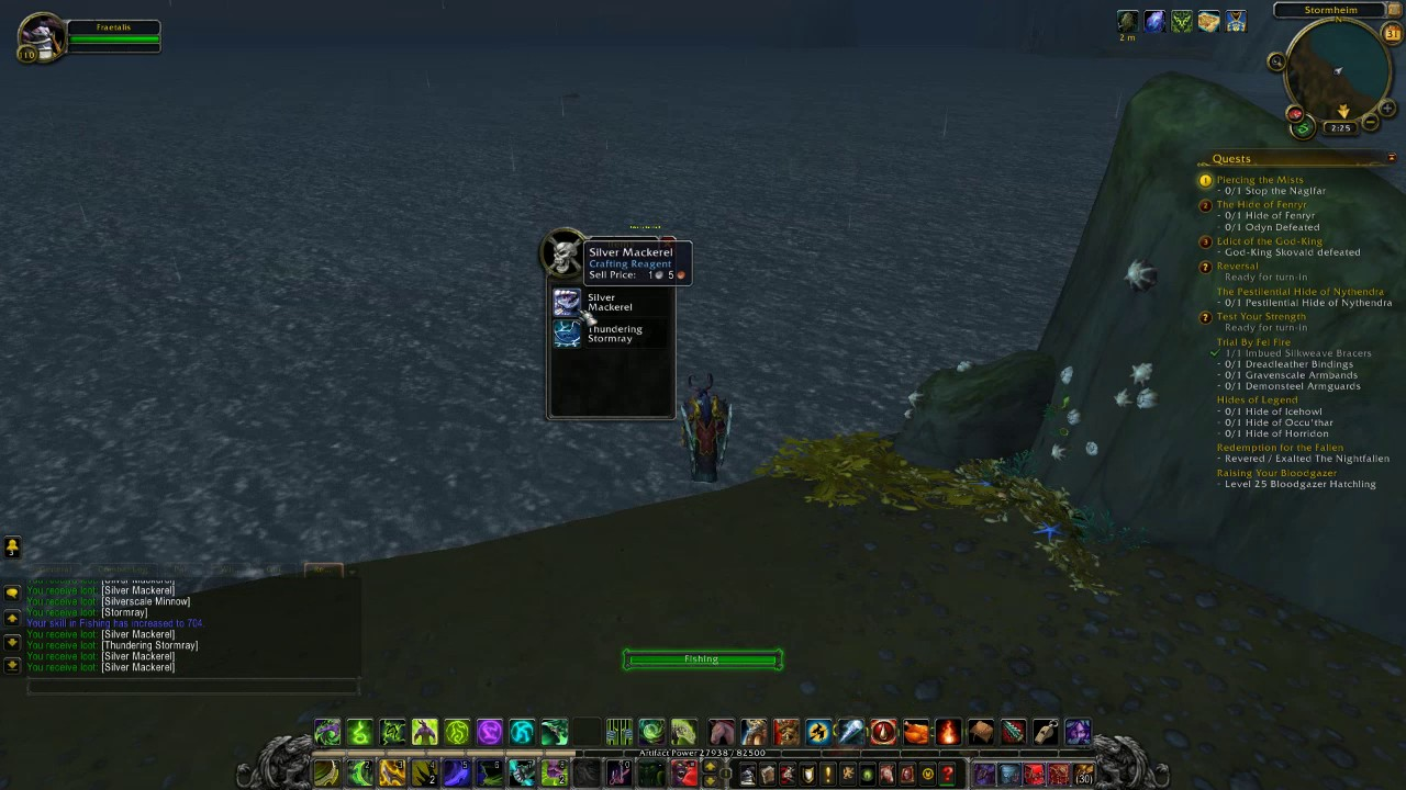 World of warcraft catching the thundering stormray legion for Wow fishing guide