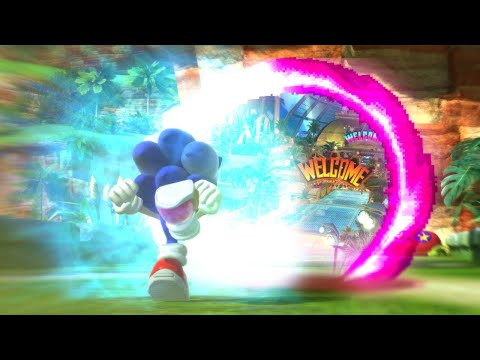 if Sonic Boost, he switch into another game.  