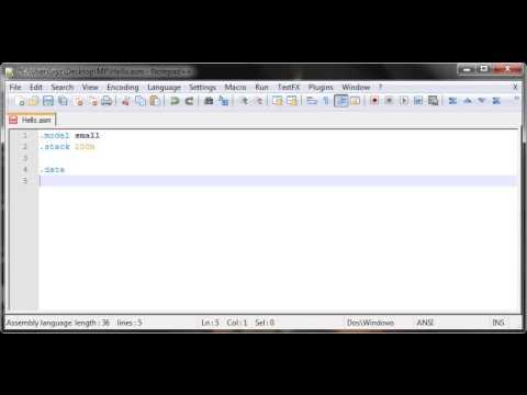 Assembly Tutorial 4 - Basic Layout (TASM)