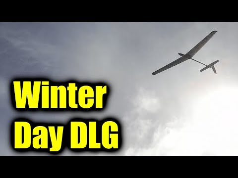 A little discus launch glider (DLG) on a winter's day thumbnail