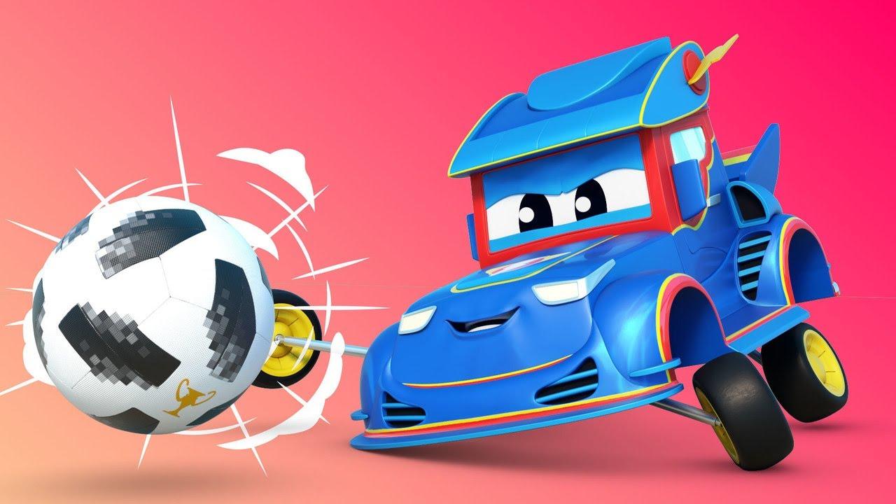 الشاحنة الخارقة !سيارة السباق الخارقة تلعب كرة القدم الشاحنة الخارقة - تطبيق عالم مدينة السيارات