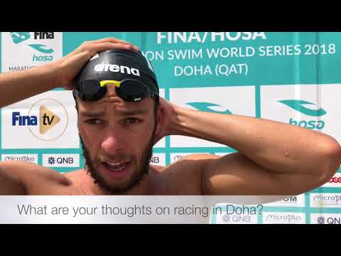 Olympic 1500m pool champion Gregorio Paltrinieri talks open water