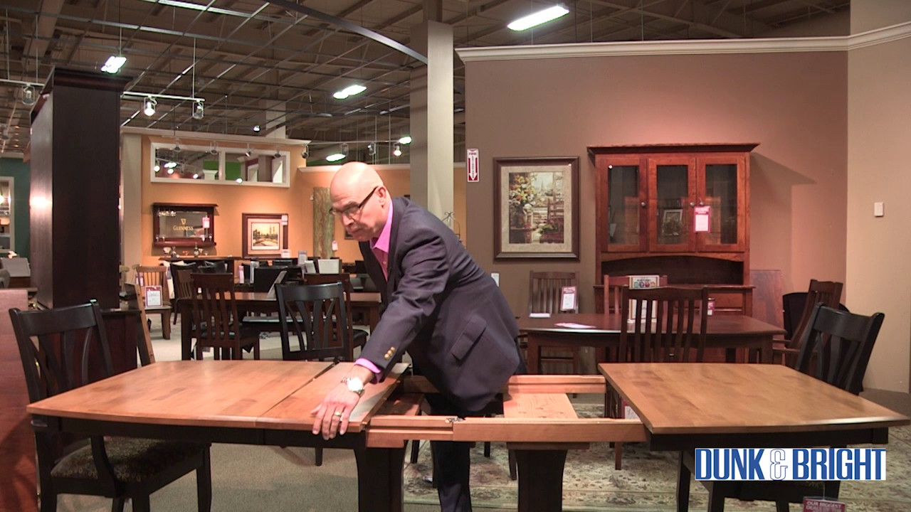 How To Self Storing Table Leaves In A Palettes By Winesburg Dining