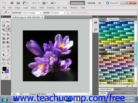 Photoshop CS6 Tutorial Selecting Colors With The Swatches Panel Adobe Training