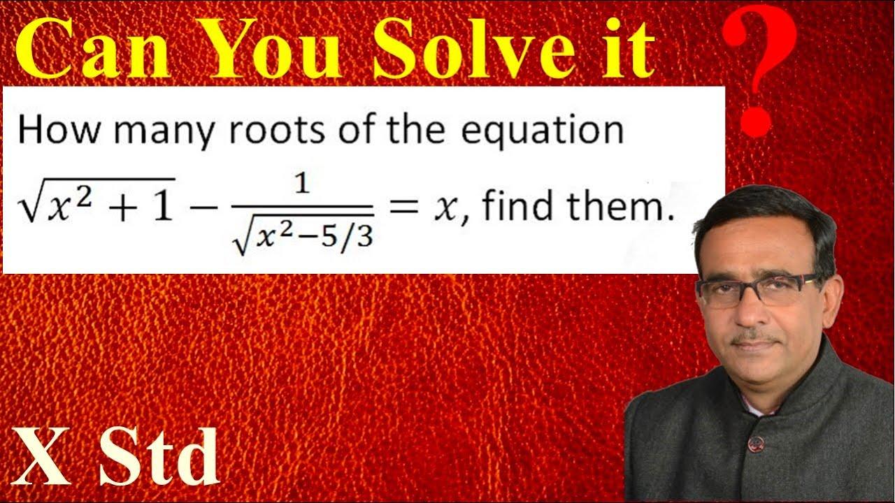 Class 10 Maths Important Questions of Quadratic Equations R B Classes