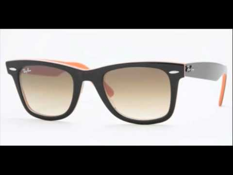 rb2140 white  Ray Ban Wayfarer Black on Orange RB 2140 100251 Sunglasses - YouTube