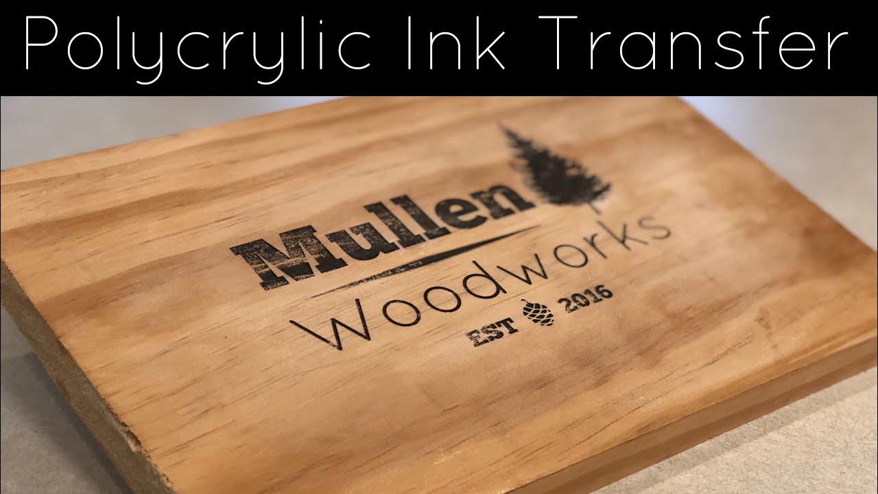 1 Minute: PolyCrylic Ink Transfer