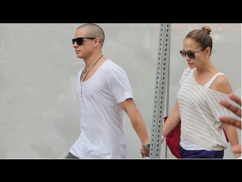 Jennifer Lopez and Casper Smart on Good Morning America