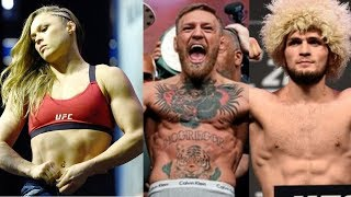 Ronda rousey kick Tv reporter out of her gym, conor mcgregor move up khabib is down in ufc p4p list
