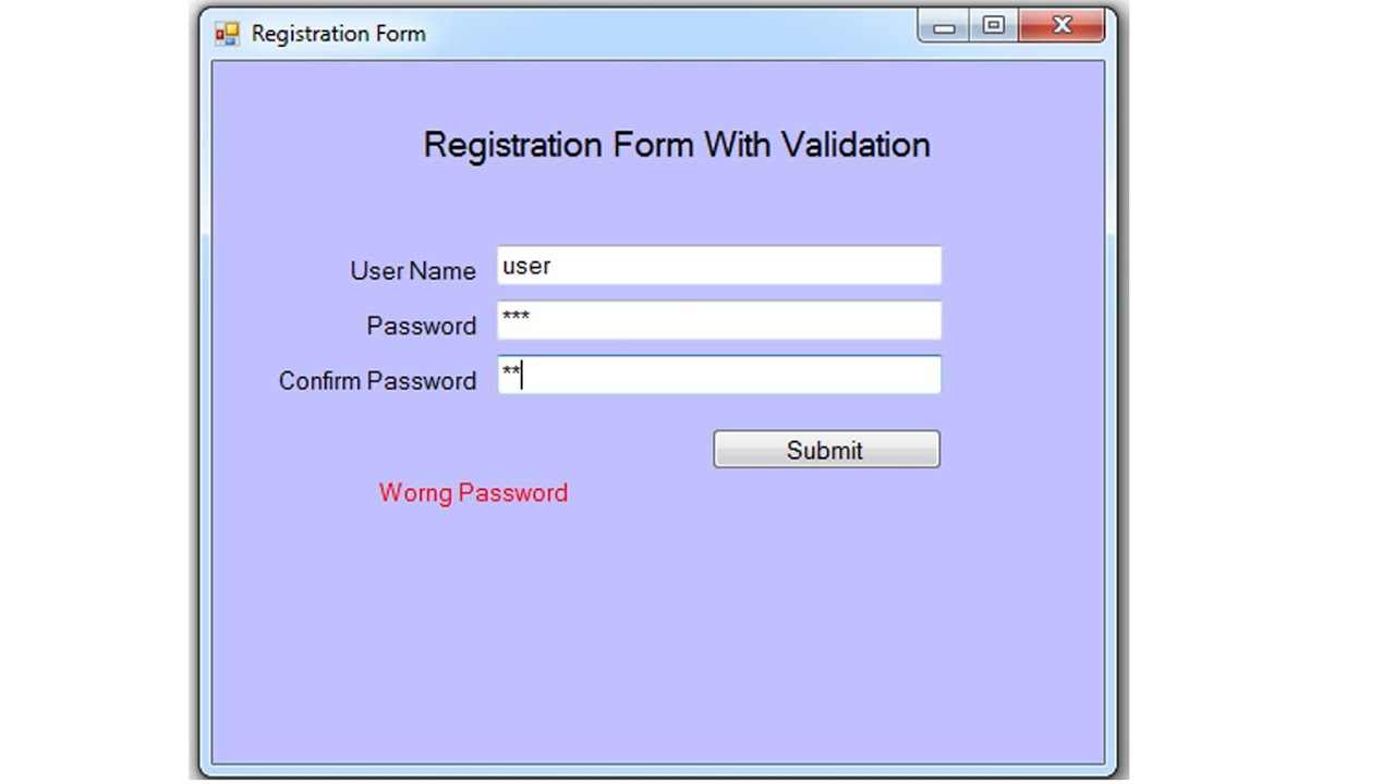 Validating user input in windows forms c#
