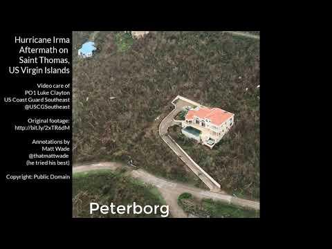 Aftermath of Hurrican Irma in Saint Thomas, US Virgin Islands