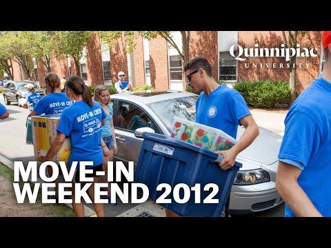 Quinnipiac University Move-In  Weekend 2012