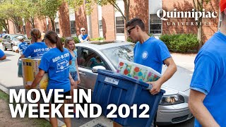 Quinnipiac University Move-In  Weekend 2012