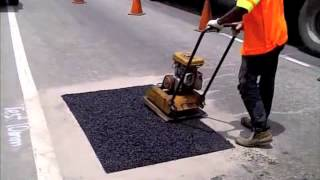 Ultracrete Instant Road Repair in Malaysia Summer 2013