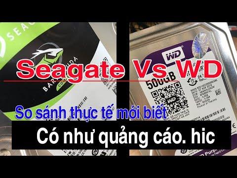 So sánh ổ cứng HDD seagate và WD 500GB lazada sendo tiki shopee | Nên chọn ổ cứng HDD nào