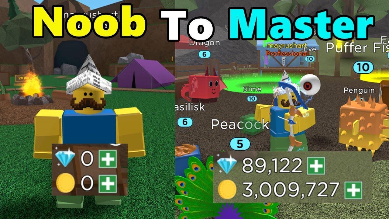 Noob To Master 3 Million Coins Got Best Bow Best Pets - archery simulator roblox