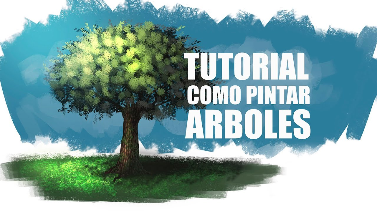 Tutorial como pintar arboles youtube - Arboles pintados en la pared ...