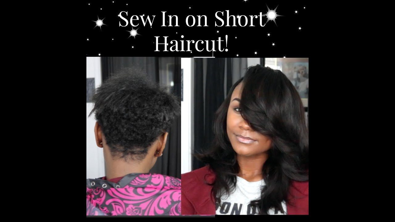 Sew In on Short Haircut