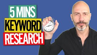 How to do KEYWORD RESEARCH For a local business // in 5 MINS, NO SEO EXPERIENCE and with FREE TOOLS