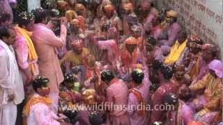 Phoolmar holi at Barsana, India