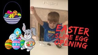 Alien slime surprise egg opening for kids