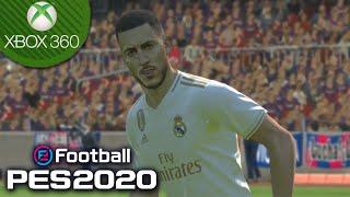🎮PES 2020 NO XBOX 360 GAMEPLAY: REAL MADRID REALISTA no *NOVO PATCH* com HAZARD, FACES e muito mais