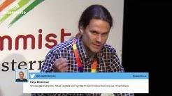Jaakko Lindforsin puhe Vasemmistoliiton puoluekokouksssa