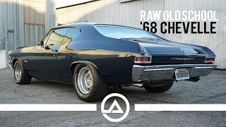Raw Old School '68 Chevelle Doing Burnouts