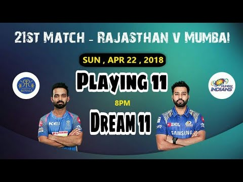 RR vs MI 21st IPL Match Dream 11 Team & Fantasy Power 11 Team||Playing 11||Dreamgrillo (RAJ vs MUM)
