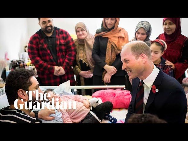 Do you have a daughter?' Prince William meets five-year-old Christchurch survivor