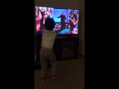 G dancing to the Ellen Show